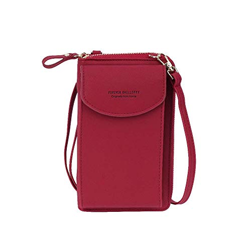WanderLand Umhängetasche für Damen, Geldbörse, Handyhalter, Geldbörse, Schultertasche, Kreditkarte, RFID, 12 Fächer