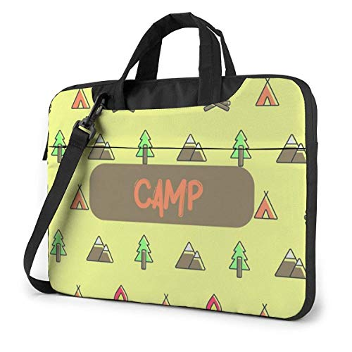 Laptop Shoulder Bag Carrying Laptop Case 15.6 Inch, Camp Critter Computer Sleeve Cover with Handle