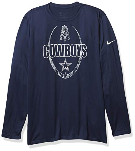 NFL Dallas Cowboys Mens Nike Icon Long Sleeve T-Shirt, Navy, Medium