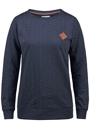 BlendShe Polly Damen Sweatshirt Pullover Sweater Mit Rundhalsausschnitt, Größe:L, Farbe:Mood Indigo (20064)