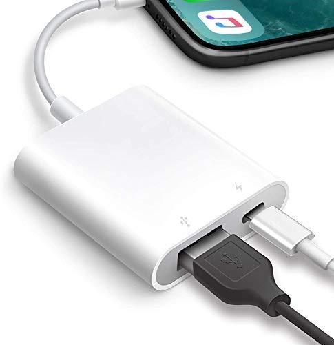 USB OTG Adapter, Akholz USB Camera Adapter for iPhone, iPad USB Adapter USB 3.0 OTG Cable Supports Trail Game Camera, USB Flash Drive, Keyboard