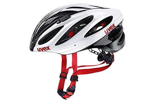 Uvex Boss Race Casco de Ciclismo, Unisex Adulto, Blanco/Negro, 55-60 cm