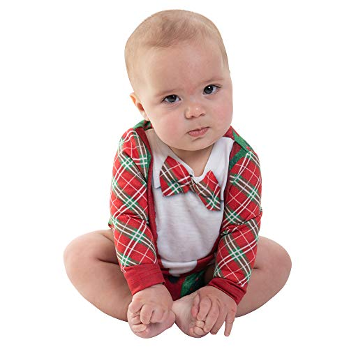 Faux Real Baby Toddler Family Ugly Christmas Sweater Long Sleeve T-Shirt, Cardigan, 12 Month