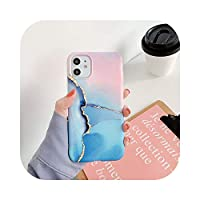 Skyyue Granite Marble Phone case for iPhone 7 8 Plus X Soft Artistic Texture Cover for iPhone 11 Pro X XS Max XR Back Shell-T1-for iPhone XR
