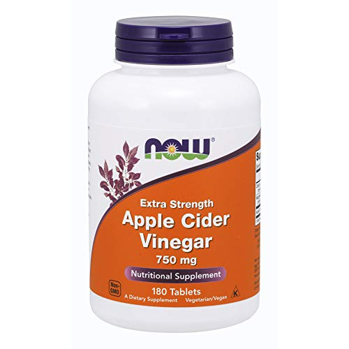 NOW Supplements, Apple Cider Vinegar 750 mg, from Fermentation of Sweet Apple Cider, Extra Strength, 180 Tablets
