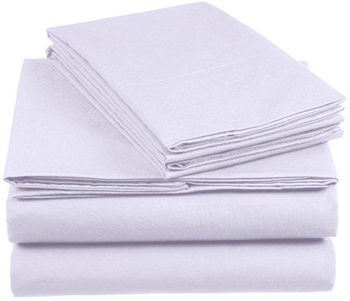 AmazonBasics Everyday - Juego de fundas de edredón nórdico y de almohada (100% algodón), Lila 260 x 220 cm & 2 fundas 50 x 80 cm