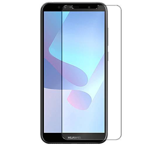 Conie 9H1378 9H Panzerfolie Kompatibel mit Huawei Y6 2018, Panzerglas Glasfolie 9H Anti Öl Anti Fingerprint Schutzfolie für Y6 2018 Folie HD Clear