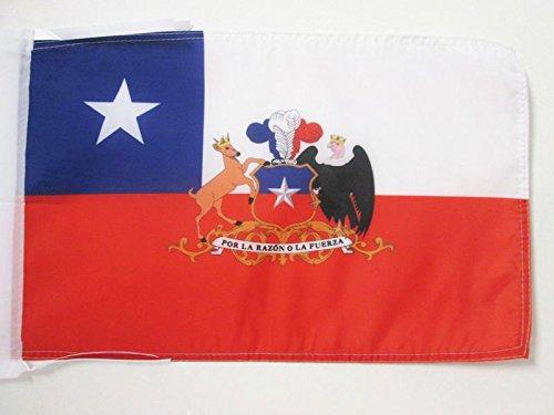 AZ FLAG Flagge Chile MIT Waffen 45x30cm mit Kordel - CHILENISCHE Fahne 30 x 45 cm - flaggen Top Qualität