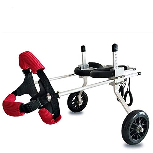 Exuberanter Hunderollstuhl Rollstuhl Hunde Hundegehilfe Hinten Rollwagen Hunderollwagen Für Katzen Kleine Hunde Hündchen Welpe, XS/S/M