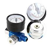 Regulador de presión de aire, 1/4'Pistola de pintura en aerosol Filtro de la trampa Compresor de aerógrafo, Medidor de presión Accesorio neumático para compresor y herramientas neumáticas