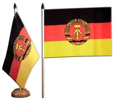 Tischflagge / Tischfahne Deutschland DDR + gratis Aufkleber, Flaggenfritze®