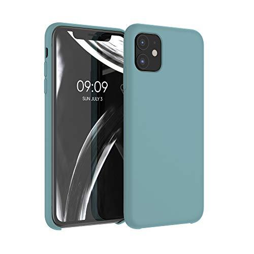 kwmobile Custodia Compatibile con Apple iPhone 11 - Cover in Silicone TPU - Back Case per Smartphone - Protezione Gommata Blu Ghiaccio