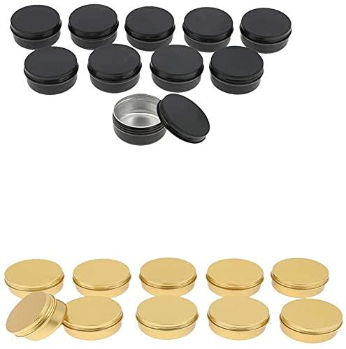N-K Lippencreme 20 Stück für kosmetische Salbe Schraubverschluss Aluminiumdose Dose Behälter Praktisches Design und langlebig