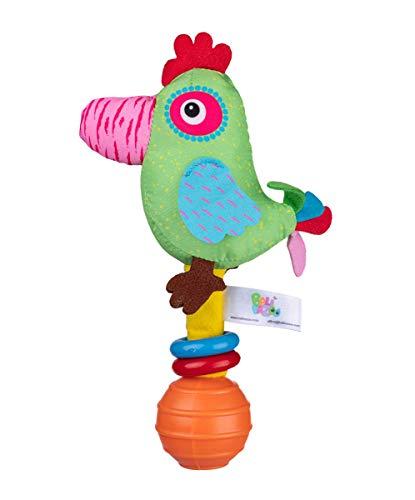 Balibazoo Unisex baby 80418 babyspeelgoed, groen roze blauw, klein