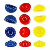 SRENTA 2' Rubber Pop Up Popper Toys, Colorful Sports Poppers Dropper Toy, Small Game Prizes, Party Favor and Gift Idea for Boys and Girls, Pack of 12