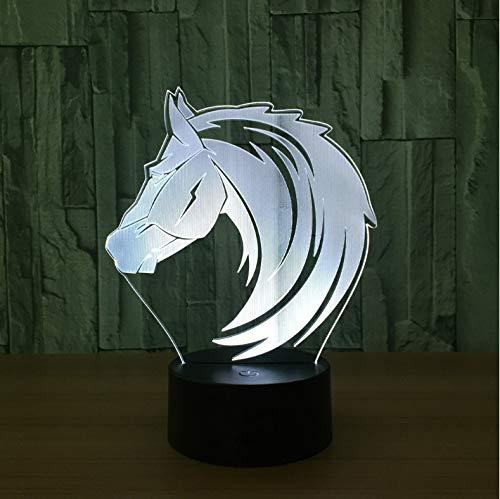 Nouveauté 3D Light Beautiful Horse Led Night Light Usb Table Lamp Nightside Nightlight For Child Gifts Worldwide