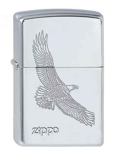 Zippo Zippo Feuerzeug 60001329 Classic Benzinfeuerzeug, Messing, Edelstahloptik, 1 x 3,5 x 5,5 cm Edelstahloptik