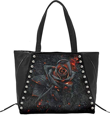 Spiral Burnt Rose Handtasche schwarz