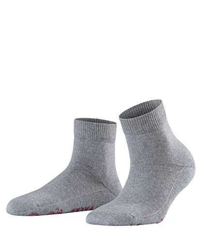 FALKE Damen Light Cuddle Pads W HP Hausschuh-Socken, Blickdicht, Grau (Mid Grey Melange 3530), 35-38