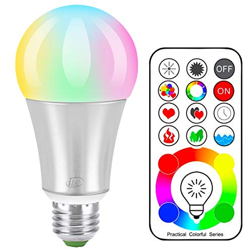 iLC Bombillas Colores RGBW LED Bombilla Cambio de Color Edison - RGB 1