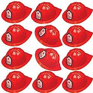 Adorox 24 Pcs Firefighter Chief Soft Plastic Hat