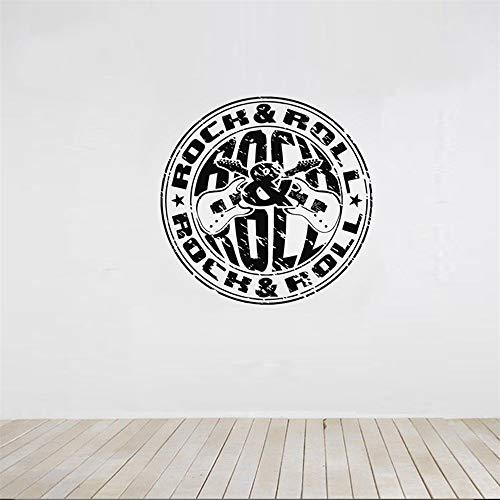 pegatina de pared etiqueta de la pared Rock & Roll Stamp Decoración Del Hogar Para la Sala de estar Tatuajes de Arte Murales Dormitorio Pegatina Poster para sala de estar