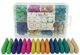 140PCS 8 Mixed Natural Scents Backflow Incense Cones Waterfall Incense Cones Gift Package Ideal for...