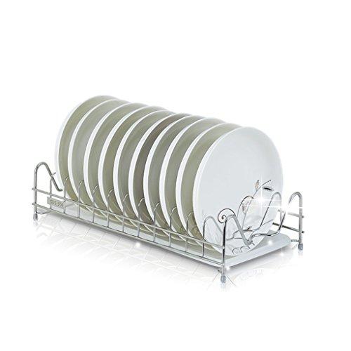 Bol de cuisine étagère 304 en acier inoxydable cuve à une seule cuvette étagère de drainage cadre de plaque baguettes air mettre étagère 43,5 * 20 * 10 (taille : 43.5 * 20 * 10)