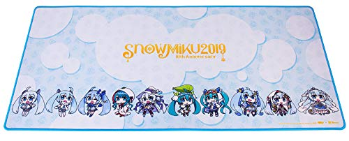 """Thermaltake Tt Esports Dasher Extended Hatsune Miku Limited Edition Gaming Mouse Pad Snow Miku 2019 Edition Semi-Coarse Surface Non-Slip Rubber Base 35.43""""X15.75""""X0.16"""" MP-DSH-Blksxs-09"""
