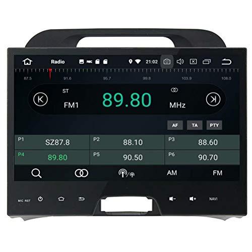 ROADYAKO Android 8.0 Multimédia Central pour Kia Sportage 2010 2011 2012 2012 Stéréo Radio avec GPS Navigation 3G Lien Miroir RDS FM AM Bluetooth AUX