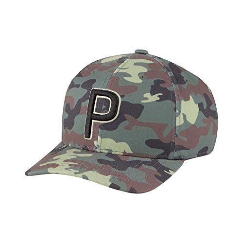 PUMA Golf 2021 Camo P Hat (Kids', Thyme, One Size)
