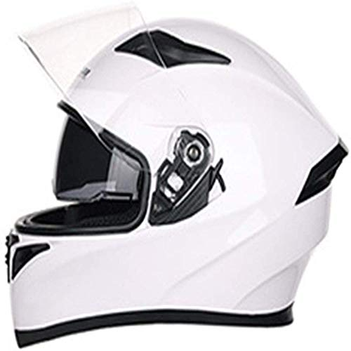 ZHXH Full Face Motorradhelm Retro Erwachsene Männer und Frauen Four Seasons Universal Flip Helm Double Sunshade Modularer Offroad Motorradhelm/Punkt genehmigt,