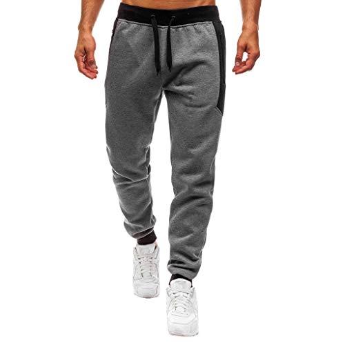 Guesspower Homme Pantalon Jogging Sarouel Survêtement Sweat Pants Sport Longue Slim Fit Casual Sport en Coton Respirant Loisirs Taille Elastique Extensible Skinny Solide Denim Pants Sweatpants
