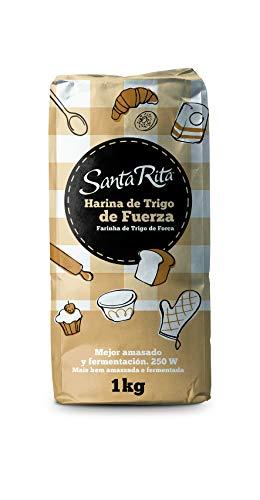 Santa Rita Harina de Trigo de Fuerza - 12 Paquetes de 1000 gr - Total: 12000 gr