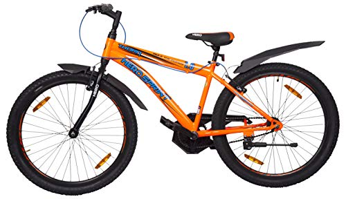 Hero Sprint Thorn 26T Single Speed Mountain Bicycle with Rigid Fork (14 Years Above) (Orange)