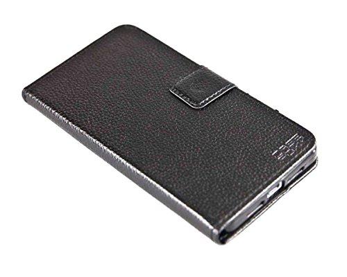 caseroxx Hülle/Tasche Bookstyle-Hülle schwarz + Bildschirmschutzfolie für Medion X5004 MD 99238, Set bestehend aus Bookstyle-Hülle & Bildschirmschutzfolie