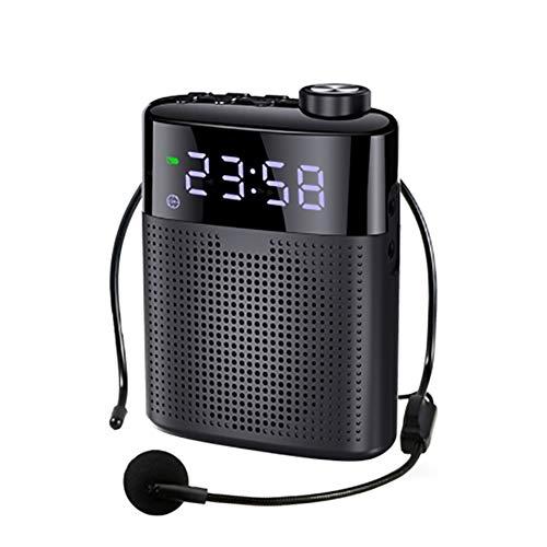 Draagbare draadloze Bluetooth Megafoon Wired stemversterker Mini Luidspreker met microfoon Ondersteuning FM-radio TF AUX wekker