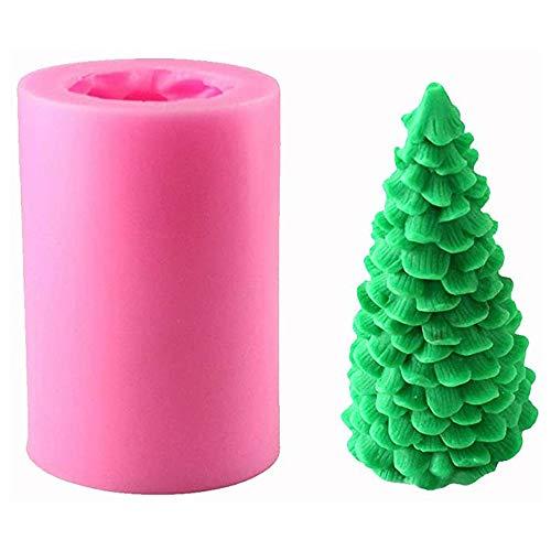Hpamba Albero di Natale 3D Candela in Silicone 3D Albero di Natale Stampo Sapone Craft Stampo per Realizzare Candele Fai da Te Stampo 3D in Silicone per Candele Albero di Natale Albero di Stampo 1PC