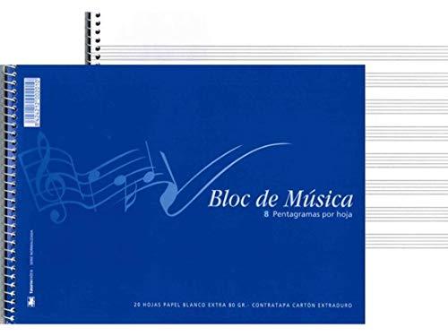 BLOC MUSICA 1/4 20 HOJAS 8 PENTA (M20)=002010=