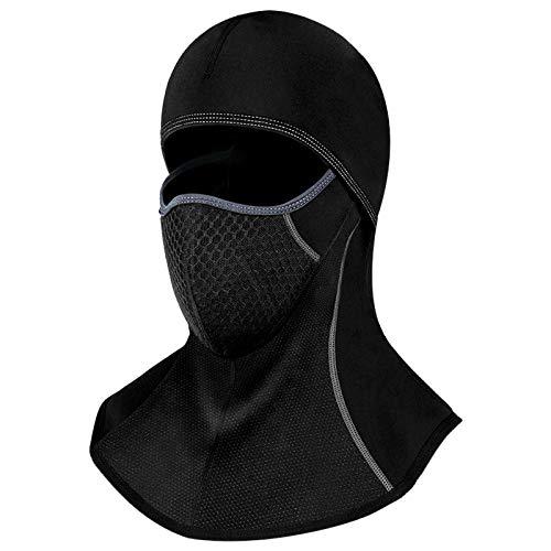 Qomolo Pasamontañas Máscara de Completa,Pasamontañas Ciclismo Invierno Balaclava Transpirable Máscara Facial Hombres Mujeres para Deportes al Aire Libre Ciclismo,Moto,Tamaño Universal