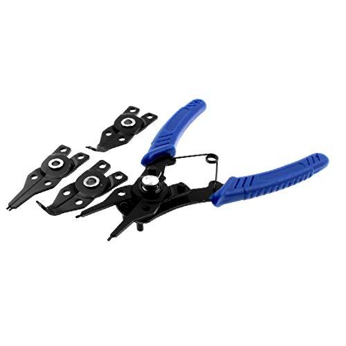 New Lon0167 Interno Externa Destacados Recta Doblada Punta eficacia confiable Anillo de retención Anillo de retención Alicate Azul Negro(id:7e4 04 cd cf9)