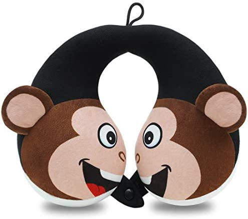 COOLBEBE Kids Neck Travel Pillow Remarkable Head Chin Neck Support U Shaped Animal Pillows for product image