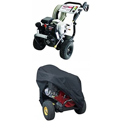 Simpson MSH3125-S MegaShot 3100 PSI 2.5 GPM Honda GC190 Engine Gas Pressure Washer and Cover Bundle
