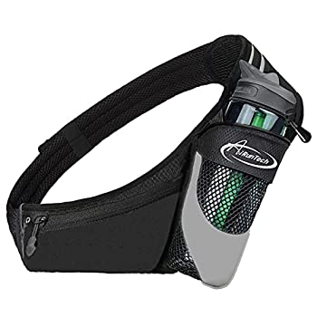 AiRunTech Fanny Pack with Water Bottle Holder for Running Walking Hiking No-Bounce Hydration Belts for Runner Athletes Fit All Waist Sizes & All Phone Models