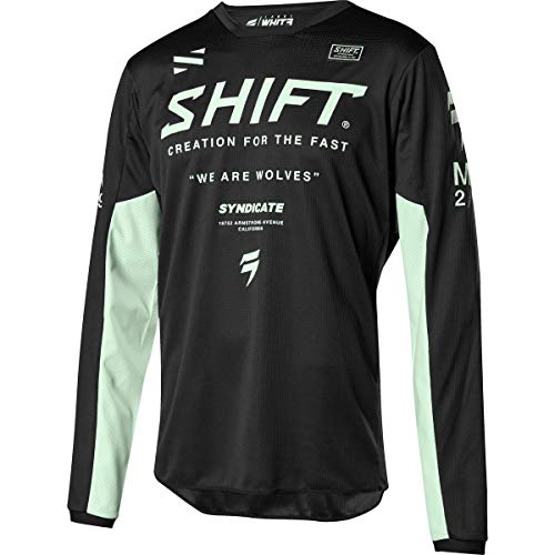 SHIFT Racing Whit3 Label Basalt LE Men's Off-Road Motorcycle Jersey - Black/Medium