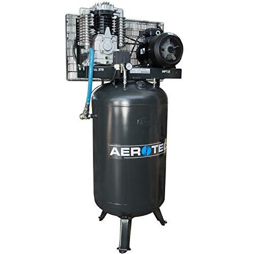 Aerotec - Compresor de aire comprimido (7,5 CV, 5,5 kW, 10 bar, 270 l, 400 V, compresor de pistón lubricado al aceite)