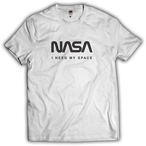 NASA公認Tシャツ(丸首・ラウンドネック)・ロゴタイプ(ワーム)・フルーツオブザルームボディJ3930HD (XL, ホワイト)