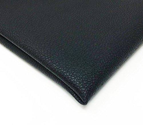 KMS 合皮 フェイク レザー 生地 ソフト 柔らかめ 薄手 幅135㎝ ハンドメイド DIY 製作(1m, 黒色)