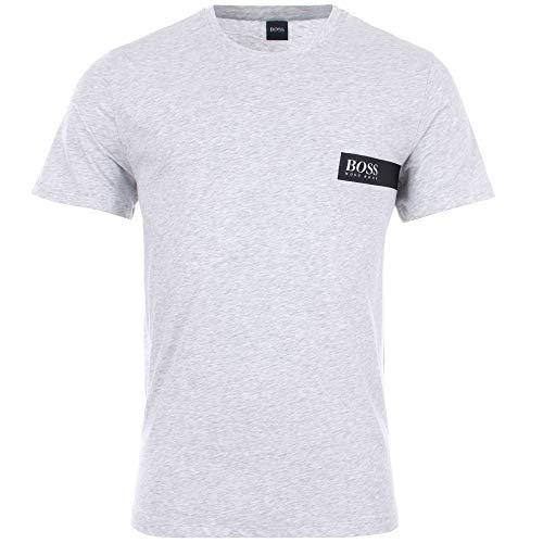 BOSS T-Shirt Rundhals Camiseta, Plateado (Silver 041), X-Large para Hombre