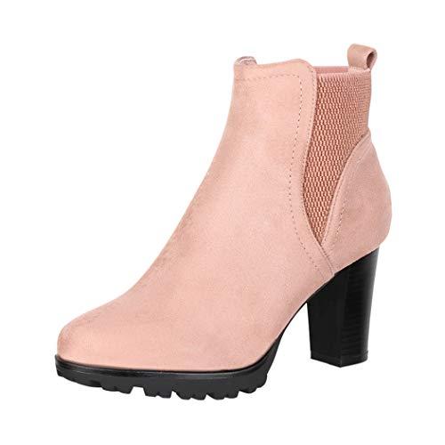 Jumex Damen Stiefeletten Ankle Boots Chunkyrayan KL0613 Nude-39
